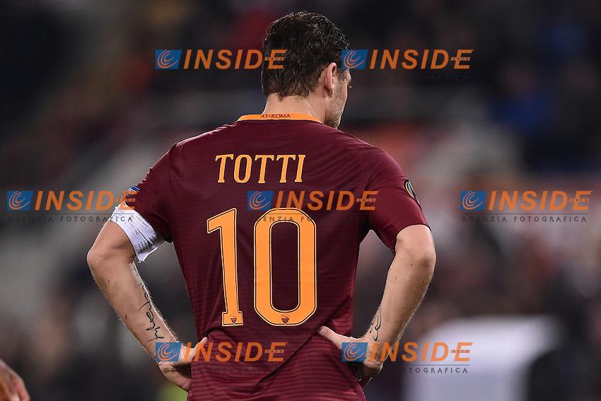 Francesco Totti Roma <br /> Roma 23-02-2017 Stadio Olimpico Football Europa League 2016/2017 Round of 32 <br /> AS Roma - Villarreal Foto Andrea Staccioli / Insidefoto