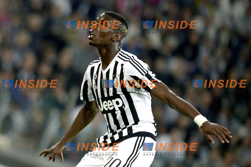 Paul Pogba Juventus,<br /> Torino 20-04-2016, Juventus Stadium, Football Calcio 2015/2016 Serie A, Juventus - Lazio, Foto Filippo Alfero/Insidefoto