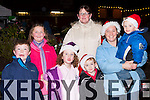 Cian, Grainne, Aoife, Dara, Mary, Sarah and Killian O'Mahony at the Kenmare Christmas celebrations on Saturday night