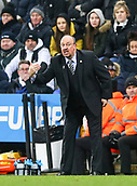 29th January 2019, St James Park, Newcastle upon Tyne, England; EPL Premier League football, Newcastle United versus Manchester City; Rafa Benitez Manager of Newcastle United gives instructions to his team to hold the lead