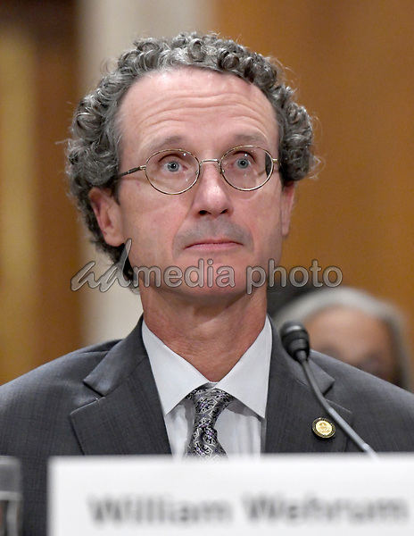 William Wehrum appears before the United States Senate Committee on Environment and Public Works to testify on his nomination as the assistant administrator for the Office of Air and Regulation at the Environmental Protection Agency (EPA) on Capitol Hill in Washington, DC on Wednesday, October 4, 2017. Photo Credit: Ron Sachs/CNP/AdMedia