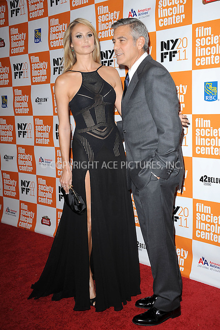 "WWW.ACEPIXS.COM . . . . . .October 16, 2011...New York City...Stacy Keibler and George Clooney attend The 49th Annual New York Film Festival Closing Night Gala Presentation of ""THE DESCENDANTS"" at Alice Tully Hall on October 16, 2011 in New York City.....Please byline: KRISTIN CALLAHAN - ACEPIXS.COM.. . . . . . ..Ace Pictures, Inc: ..tel: (212) 243 8787 or (646) 769 0430..e-mail: info@acepixs.com..web: http://www.acepixs.com ."