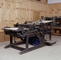 Antique newspaper and book press - Hoe Cylinder Press, New York, c. 1928. When possible, please credit -  Photo by Bill Parsons Collection of John C. Horn Mira.. John C. Horn Collection of Antique Printing Presses. Arkansas.