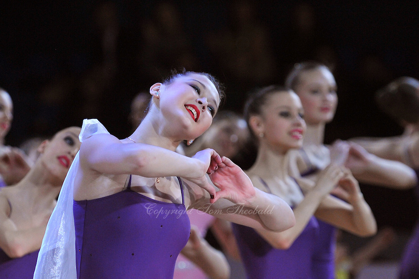 ALINA MAKSYMENKO of Ukraine performs in gala tribute to Albina Deriugina on her 80th birthday at 2012 World Cup Kiev in Ukraine on March 16, 2012.<br />