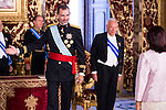 Ambassador of Costa Rica, SRA. Doris Osterlof Obreg&oacute;n present his credentials to King Felipe VI of Spain during royal audiences at Real Palace in Madrid, July 27, 2015. <br /> (ALTERPHOTOS/BorjaB.Hojas)