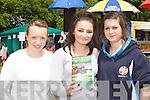Claire Tyner, Rachel Boyle and Meaghan Ryan Dingle at the Castleisland Races on Sunday..