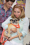 """One Life To Live Kerry Butler """"Claudia Reston"""" and costar Aaron Tveit star in """"Catch Me If You Can"""" attend Broadway Barks Lucky 13th Annual Adopt-a-thon - A """"Pawpular"""" Star-studded dog and cat adopt-a-thon on July 9, 2011 in Shubert Alley, New York City, New York with Bernadette Peters and Mary Tyler Moore as hosts.  (Photo by Sue Coflin/Max Photos)"""