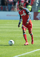 31 March 2011:Toronto FC defender Ashtone Morgan #5 in action during a game between the Columbus Crew and the Toronto FC at BMO Field in Toronto, Ontario Canada..The Columbus Crew won 1-0.