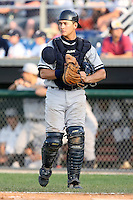 July 5th 2008:  Catcher Mitch Abeita of the Staten Island Yankees, Class-A affiliate of the NY Yankees, during a game at Falcon Park in Auburn, NY.  Photo by:  Mike Janes/Four Seam Images