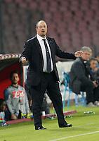Rafael Benitez    in action during the Italian Serie A soccer match between SSC Napoli and Verona  at San Paolo stadium in Naples, October 26, 2014