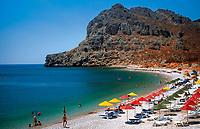 Griechenland, Dodekanes, Rhodos, Kolymbia: Strand beim Lutania Beach Hotel | Greece, Dodekanes, Rhodes, Kolymbia; beach near Lutania Beach Hotel