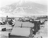 View of Crested Butte from upper story window, winter, snow.<br /> Crested Butte, CO  ca 1915