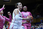 08 February 2015: Duke's Rebecca Greenwell (center). The Duke University Blue Devils hosted the Clemson University Tigers at Cameron Indoor Stadium in Durham, North Carolina in a 2014-15 NCAA Division I Women's Basketball game. Duke won the game 89-60.