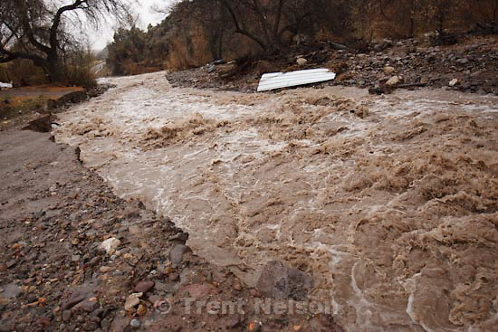 Trent Nelson  |  The Salt Lake Tribune.A road washed out by Beaver Dam Wash in Motoqua, Utah, Wednesday, December 22, 2010.