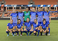 Houston, TX - Saturday July 22, 2017: Boston Breakers  Starting XI during a regular season National Women's Soccer League (NWSL) match between the Houston Dash and the Boston Breakers at BBVA Compass Stadium.