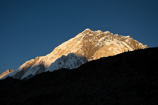 Nuptse at Sunset