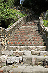 Stone Steps (All 130+ Of Them) Leading Up To The Consul's Residence From The Rear Of The Consular Office, Kaohsiung (Takow), Taiwan.