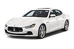 2014 Maserati Ghibli Base 4 Door Sedan Angular Front stock photos of front three quarter view