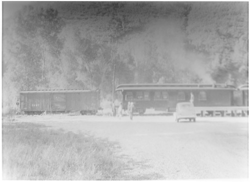 RGS West Durango terminal with special train of cars B-20 and #252.<br /> RGS  West Durango, CO  Taken by Barriger, John W. III - 7/3/1938