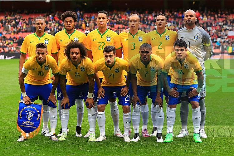 Brazil team group - Brazil vs. Chile - International Friendly - Emirates Stadium - London - 29/03/2015 Pic Philip Oldham/Sportimage