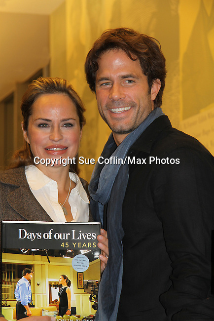 "Days of Our Lives' Crystal Chappell and Shawn Christianl celebrate the new book ""Days of our Lives 45 Years"" with a discussion, Q&A and signing on December 7, 2010 at Barnes and Noble Lincoln Triangle, New York City, New York."