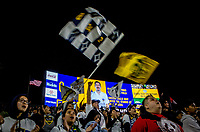 CARSON, CA - MARCH 07: Los Angeles Galaxy fans and Sacha Kljestan #16 during a game between Vancouver Whitecaps and Los Angeles Galaxy at Dignity Health Sports Park on March 07, 2020 in Carson, California.