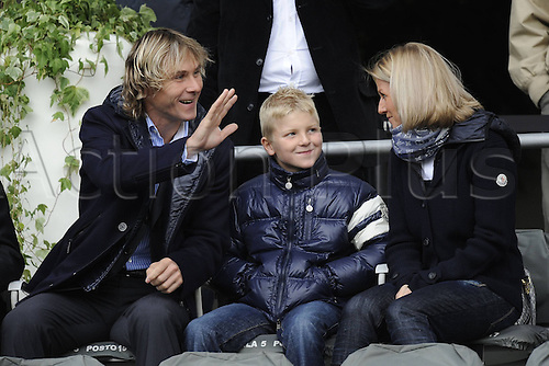17 10 2010 Torino 17 10 2010 Campionato Tue Calcio Series A Juventus versus Lecce  Photo Pavel Nedved with his family in stands
