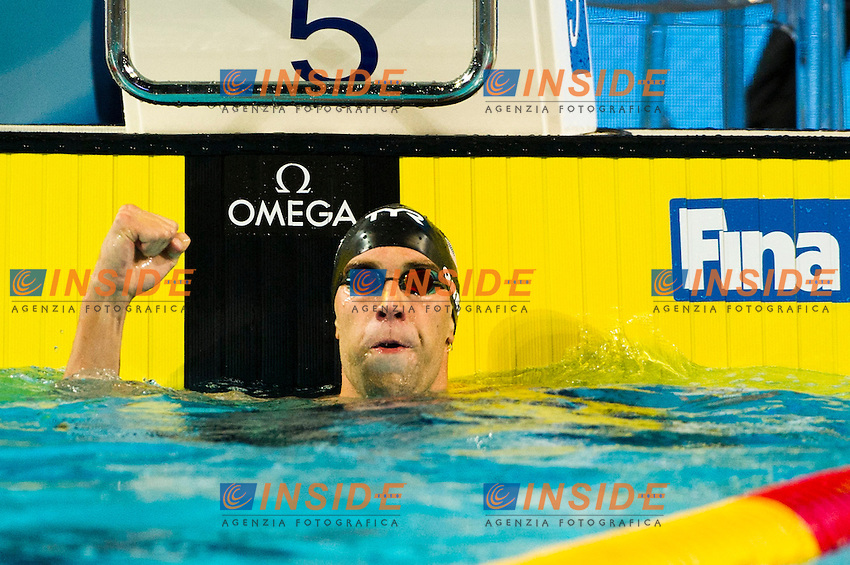GREVERS Matthew USA   Gold Medal.Men's 100m Backstroke.FINA World Short Course Swimming Championships.Istanbul Turkey 12 - 16 Dec. 2012.Day 02.Photo G.Scala/Deepbluemedia/Inside