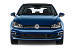 Car photography straight front view of a 2014 Volkswagen Golf SEL 5 Door Hatchback
