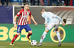Atletico de Madrid's Filipe Luis (l) and Celta de Vigo's Iago Aspas during Spanish Kings Cup match. January 27,2016. (ALTERPHOTOS/Acero)