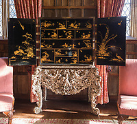 BNPS.co.uk (01202 558833)<br /> Pic: Dukes/BNPS<br /> <br /> A William and Mary Japanned Cabinet on a Silver sold for £45,000<br /> <br /> The contents of one of England's finest stately homes are expected to fetch over £1m when they go under the hammer.<br /> <br /> The auction of a myriad of treasures inside Athelhampton House in Dorset is being hailed as one of the best country house sales for a generation <br /> <br /> The collection of fine art, furniture, sculptures, paintings and rugs has been amassed by three generations of the Cooke family who have just sold the Tudor mansion for £7.5m.