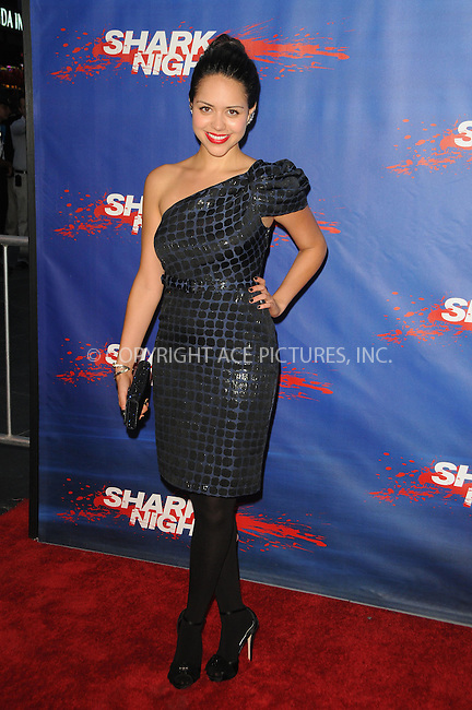 WWW.ACEPIXS.COM . . . . .  ....September 1 2011, LA....Actress Alyssa Diaz arriving at the screening of 'Shark Night 3D' on September 1, 2011 in Universal City, California.....Please byline: PETER WEST - ACE PICTURES.... *** ***..Ace Pictures, Inc:  ..Philip Vaughan (212) 243-8787 or (646) 679 0430..e-mail: info@acepixs.com..web: http://www.acepixs.com