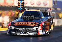 Jul. 26, 2013; Sonoma, CA, USA: NHRA funny car driver Tony Pedregon during qualifying for the Sonoma Nationals at Sonoma Raceway. Mandatory Credit: Mark J. Rebilas-