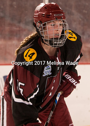 Lexie Laing (Harvard - 16) - The Boston College Eagles defeated the Harvard University Crimson 3-1 on Tuesday, January 10, 2017, at Fenway Park in Boston, Massachusetts.The Boston College Eagles defeated the Harvard University Crimson 3-1 on Tuesday, January 10, 2017, at Fenway Park.