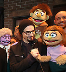 "Kevin Richardson from the Backstreet Boys backstage with  the cast and crew of  ""Avenue Q""  at the New World Stages on January 27, 2019 in New York City."
