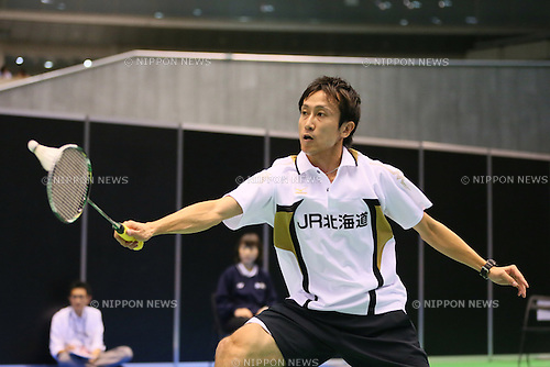 Jun Takemura (JPN), <br /> SEPTEMBER 20, 2013 - Badminton : <br /> Yonex Open Japan 2013 <br /> Men's Singles <br /> at Tokyo Metropolitan Gymnasium, Tokyo, Japan. <br /> (Photo by YUTAKA/AFLO SPORT) [1040]