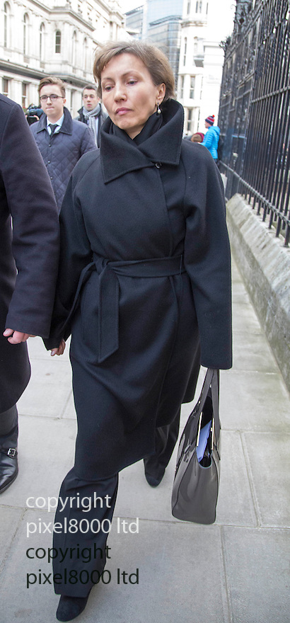 Picture shows: Marina Litvinenko arrives High Court in London today for the inquiry into his death.<br /> <br /> The widow of murdered former KGB spy Alexander Litvinenko was attending public inquiry into her husband's death.<br /> Marina Litvinenko challenged the UK Government's decision to await the outcome of a normal inquest before deciding whether there should be an inquiry with powers to probe more deeply into the killing.<br /> <br /> \<br /> <br /> <br /> <br /> <br /> Pic by Gavin Rodgers/Pixel 8000 Ltd  27.1.15