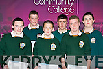 Winners of the Sport and Extra Curriculum awards at the at Killorglin Community College awards on Thursday evening l-r: Daniel Ahern, Shane Clifford, Con Sheahan, David Costello, Shane Cahill and Jack Barrett..
