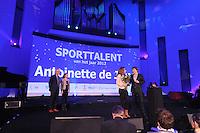 SPORT: HEERENVEEN: Trinitas, 30-01-2013, Sportgala Fryslân, Toine van Peperstraten, Lisa Top, Antoinette de Jong (Sporttalent), ©foto Martin de Jong
