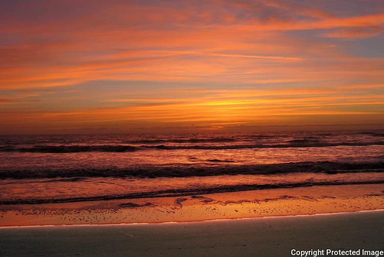 Florida beach at dawn