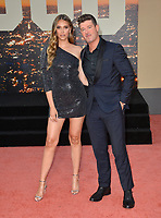 """LOS ANGELES, USA. July 23, 2019: April Love Geary & Robin Thicke at the premiere of """"Once Upon A Time In Hollywood"""" at the TCL Chinese Theatre.<br /> Picture: Paul Smith/Featureflash"""