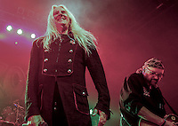 Pictured: saxon live on stage at Glasgow ABC  on the Battering Ram tour October/November 2016. <br /> Saxon are an English heavy metal band formed in 1977, in South Yorkshire. As one of the leaders of the new wave of British heavy metal, they had eight UK Top 40 albums in the 1980s including four UK Top 10 albums and two Top 5 albums. The band also had numerous singles in the UK Singles Chart and chart success all over Europe and Japan, as well as success in the US. During the 1980s Saxon established themselves as one of Europe's biggest metal acts. The band tours regularly and have sold more than 15 million albums worldwide. They are considered one of the classic metal acts and have influenced many bands such as Metallica, Mötley Crüe, Pantera,. Andrew West/ RockingPix