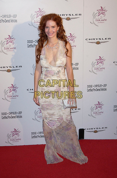 PHOEBE PRICE.attends the 6th Annual Lili Claire Foundation Benefit held at The Beverly Hilton Hotel.full length, full-length, long floral dress, flowery.www.capitalpictures.com.sales@capitalpictures.com.©Capital Pictures.