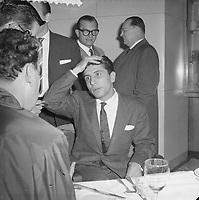 Gilbert Becaud en Hollande, 21 octobre 1960