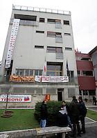 L'esterno della sede dell'ISPRA, Istituto Superiore per la Protezione e la Ricerca Ambientale, a Roma, 15 gennaio 2010, durante l'assemblea dei ricercatori precari dell'istituto..UPDATE IMAGES PRESS/Riccardo De Luca