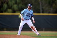 Maine Black Bears designated hitter Kevin Stypulkowski (33) during a game against the Ball State Cardinals on March 3, 2015 at North Charlotte Regional Park in Port Charlotte, Florida.  Ball State defeated Maine 8-7.  (Mike Janes/Four Seam Images)