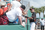 Ichiro Suzuki (Mariners),<br /> MARCH 3, 2015 - MLB : Ichiro Suzuki of the Miami Marlins signs autographs for fans before a spring training practice game in Juliter, Florida, United States.<br /> (Photo by AFLO)