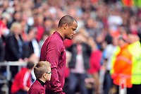 Pictured: Vincent Kompany.<br /> Saturday 04 May 2013<br /> Re: Barclay's Premier League, Swansea City FC v Manchester City at the Liberty Stadium, south Wales.