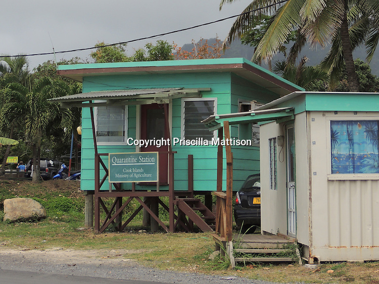 Rarotonga, Cook Islands - September 21, 2012:  The Quarantine Station at Avatiu Harbor.