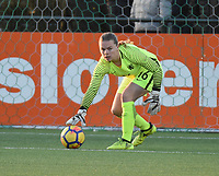 20180326 - VEEN , THE NETHERLANDS : Dutch Claire Dinkla  pictured during the UEFA Women Under 17 Elite round game between The Netherlands WU17 and Portugal WU17, on the second matchday in group 1 of the Uefa Women Under 17 elite round in The Netherlands , monday 26 th March 2018 . PHOTO SPORTPIX.BE    DIRK VUYLSTEKE